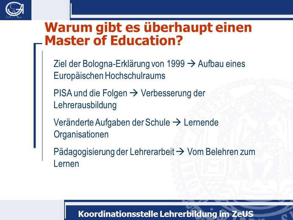 Warum gibt es überhaupt einen Master of Education