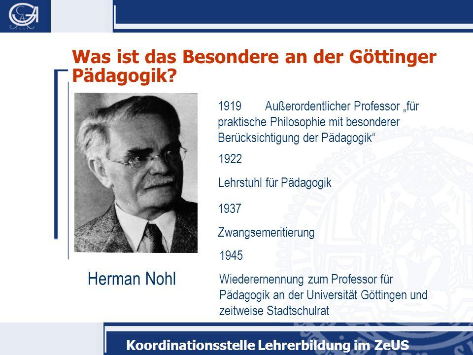 Was ist das Besondere an der Göttinger Pädagogik