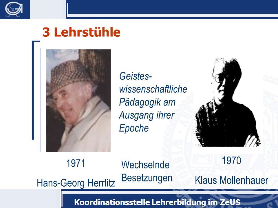 3 Lehrstühle Geistes-wissenschaftliche Pädagogik am Ausgang ihrer Epoche. 1970. Klaus Mollenhauer.