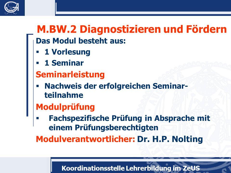 M.BW.2 Diagnostizieren und Fördern