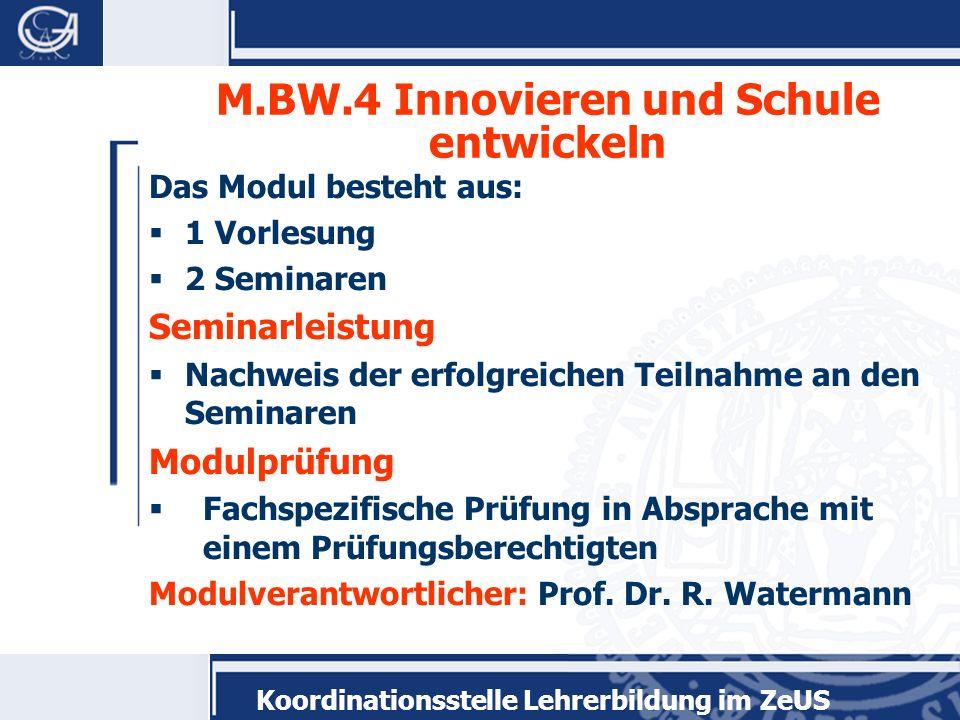 M.BW.4 Innovieren und Schule entwickeln