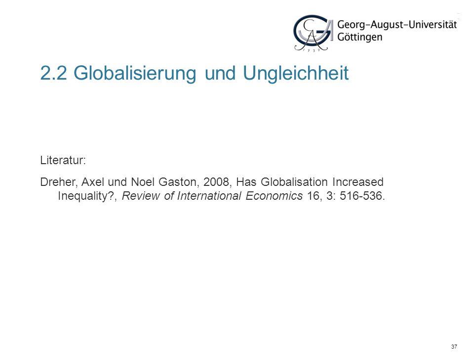 2.2 Globalisierung und Ungleichheit