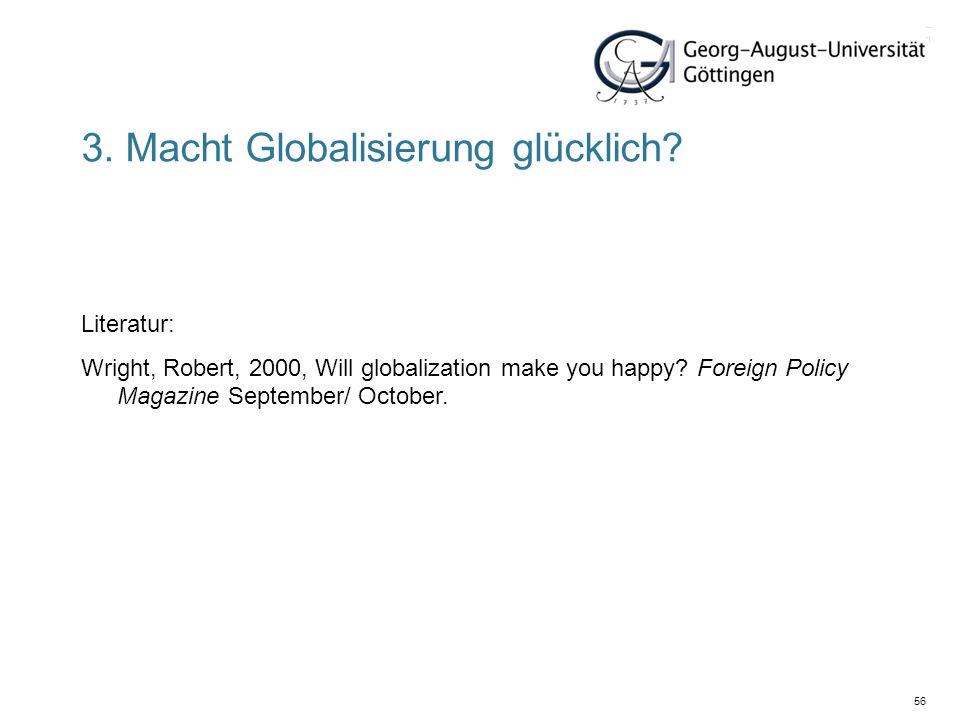 3. Macht Globalisierung glücklich