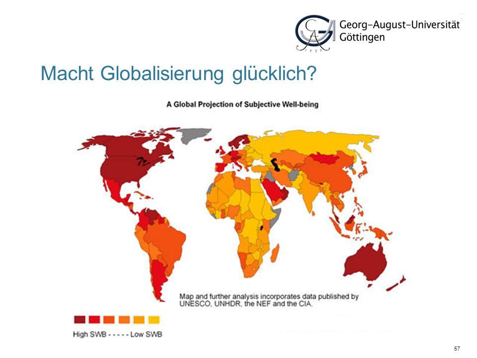 Macht Globalisierung glücklich