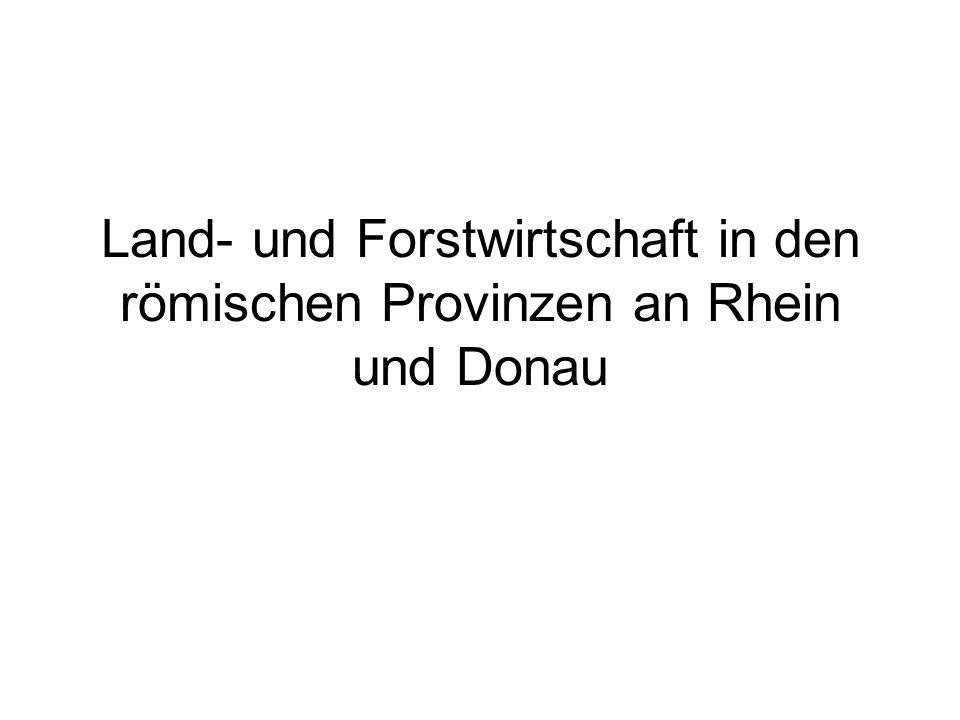 Land- und Forstwirtschaft in den römischen Provinzen an Rhein und Donau