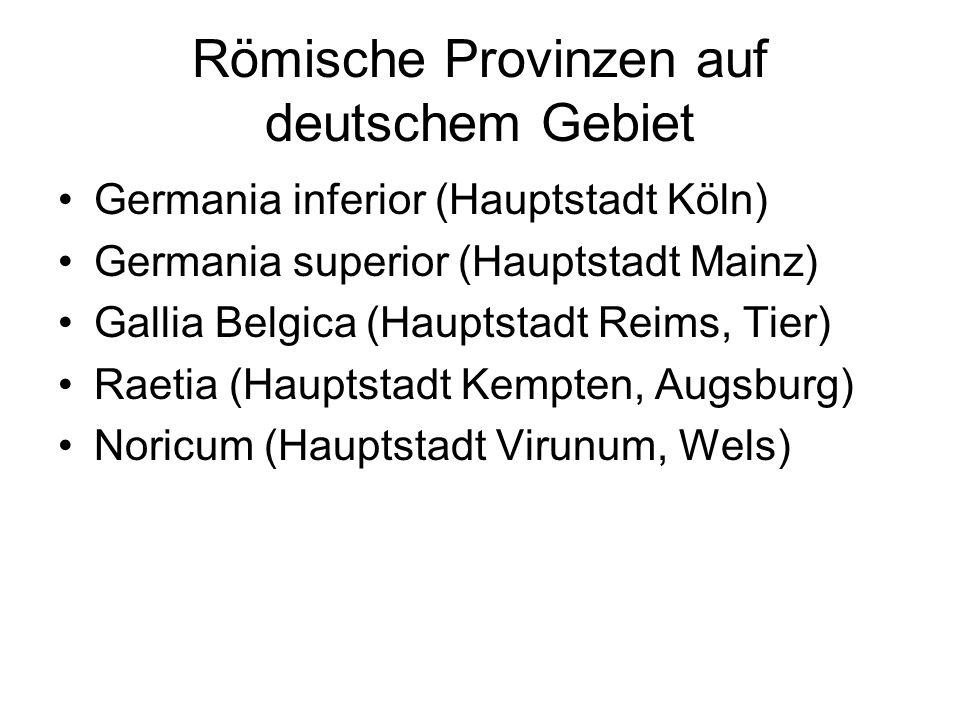 Römische Provinzen auf deutschem Gebiet