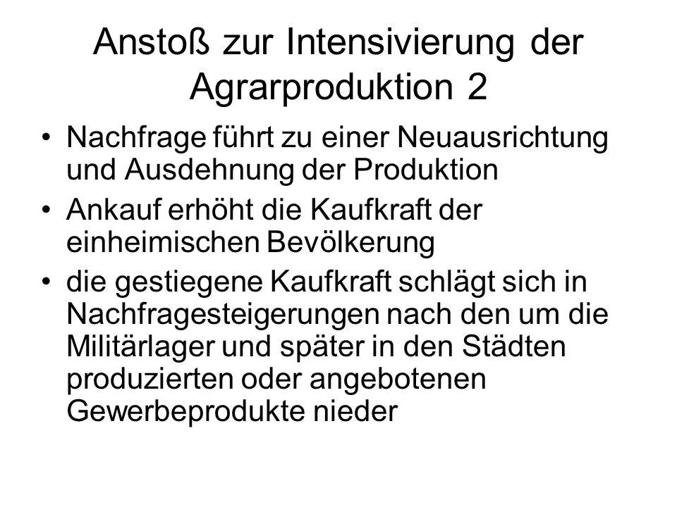 Anstoß zur Intensivierung der Agrarproduktion 2