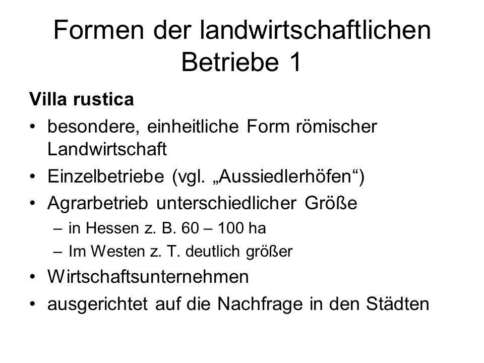 Formen der landwirtschaftlichen Betriebe 1