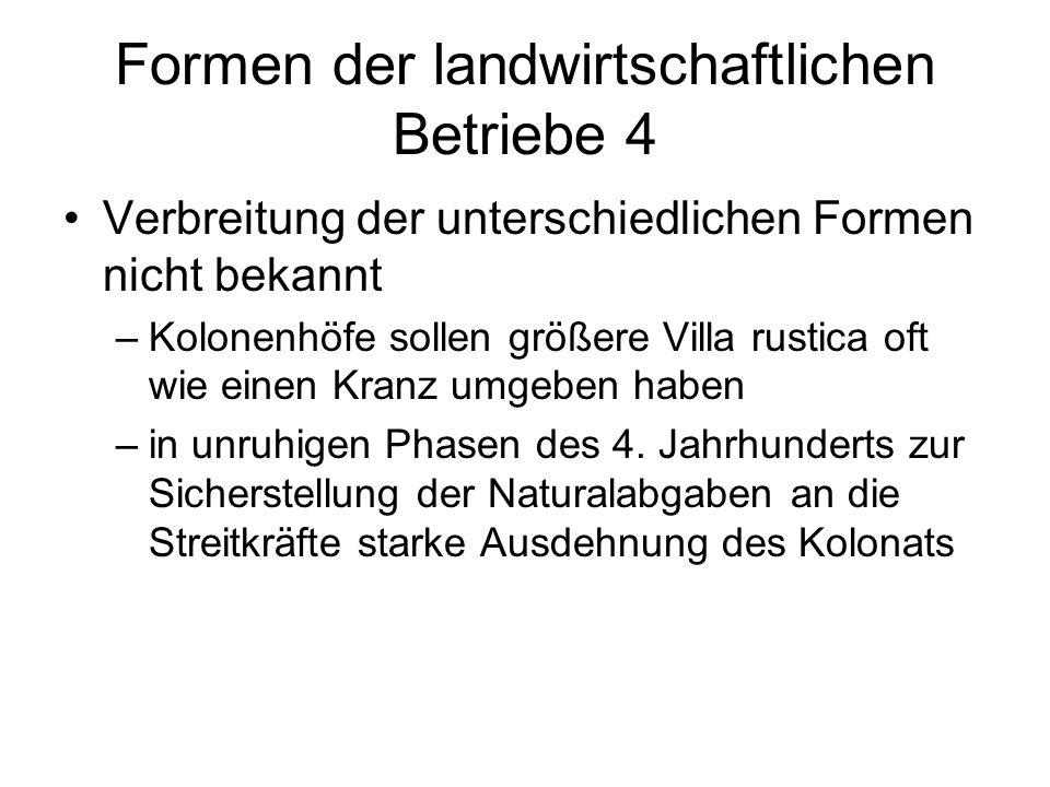 Formen der landwirtschaftlichen Betriebe 4
