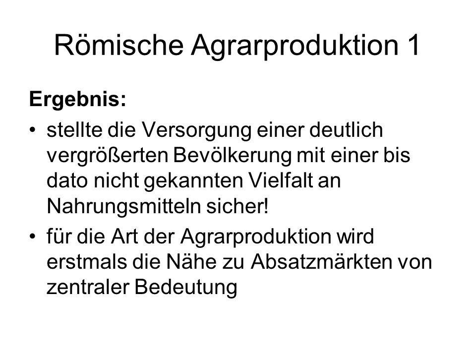 Römische Agrarproduktion 1