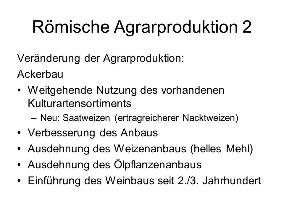 Römische Agrarproduktion 2