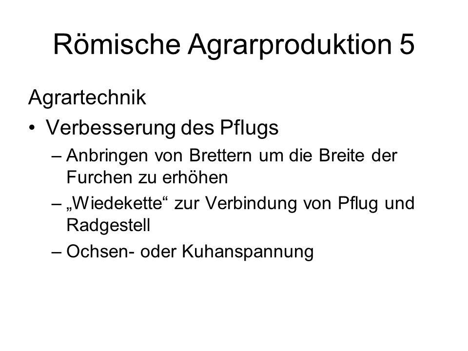 Römische Agrarproduktion 5