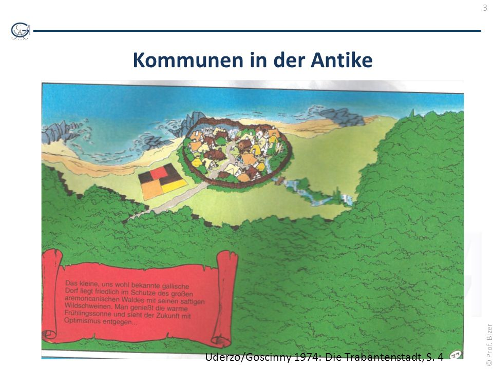 Kommunen in der Antike Uderzo/Goscinny 1974: Die Trabantenstadt, S. 4