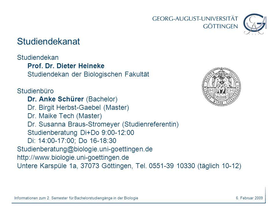 Studiendekanat Studiendekan Prof. Dr. Dieter Heineke
