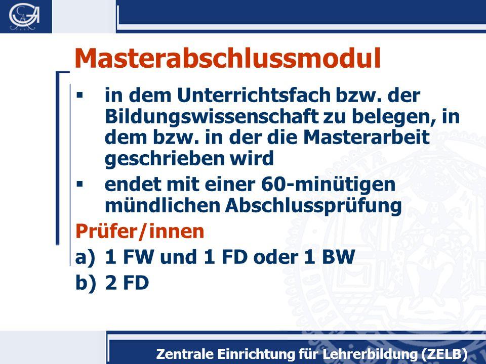 Masterabschlussmodul