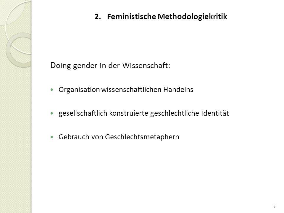 2. Feministische Methodologiekritik