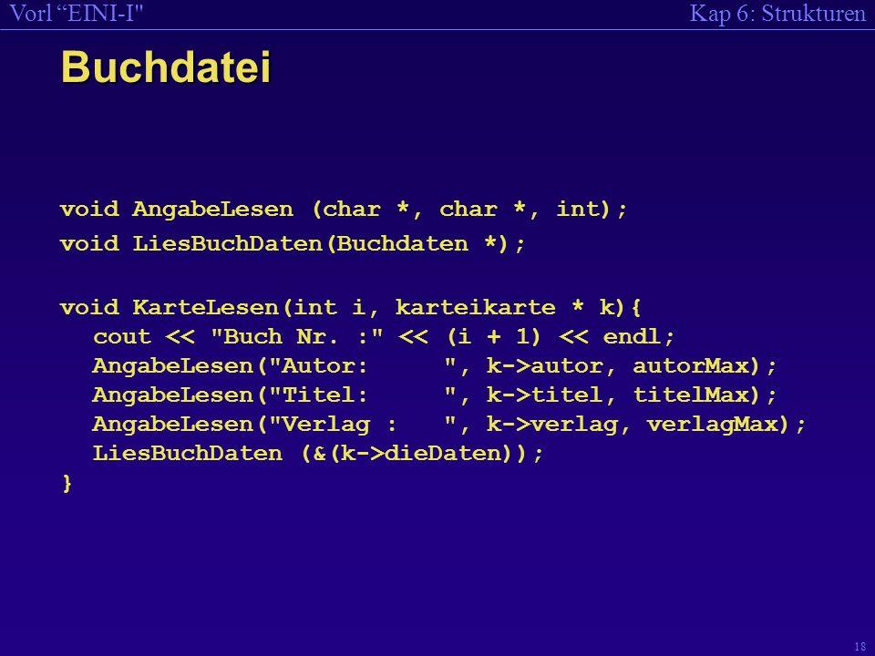Buchdatei void AngabeLesen (char *, char *, int);