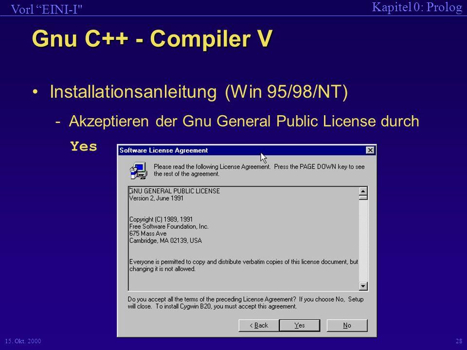Gnu C++ - Compiler V Installationsanleitung (Win 95/98/NT)