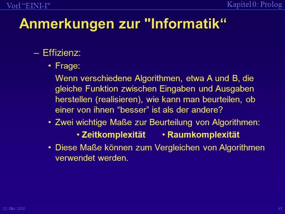 Anmerkungen zur Informatik