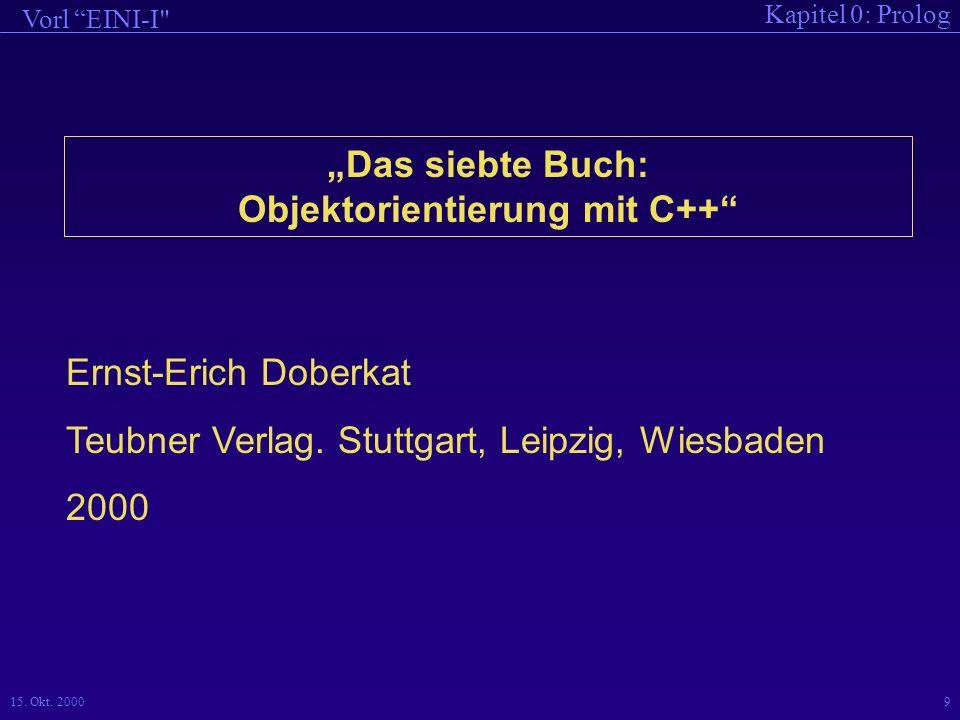 """""""Das siebte Buch: Objektorientierung mit C++"""