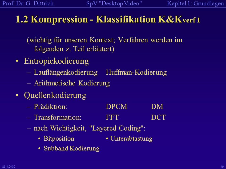 1.2 Kompression - Klassifikation K&Kverf 1