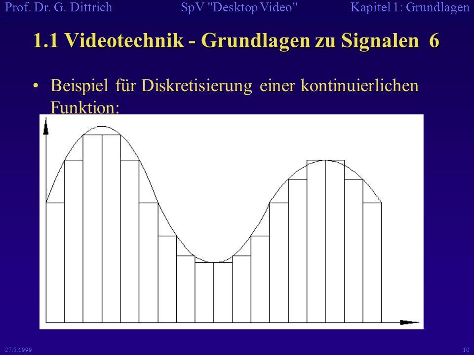 1.1 Videotechnik - Grundlagen zu Signalen 6