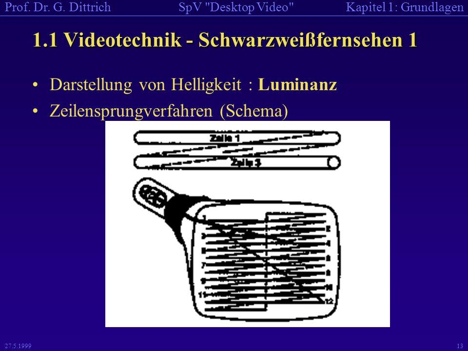 1.1 Videotechnik - Schwarzweißfernsehen 1
