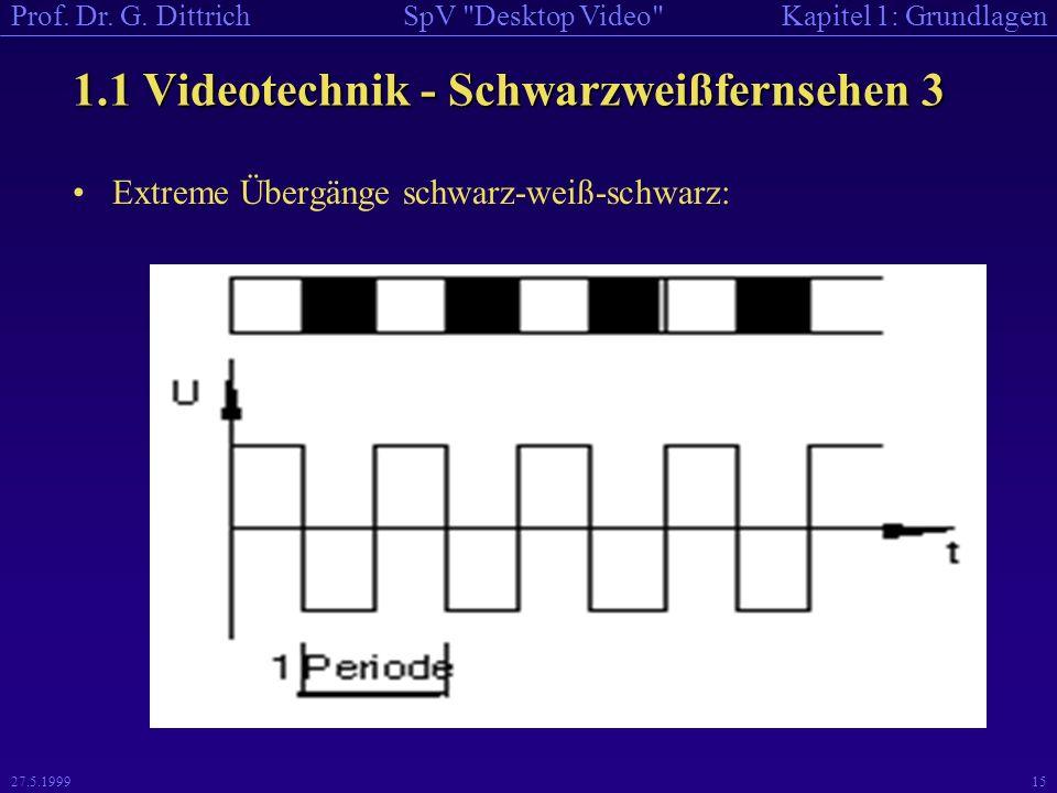 1.1 Videotechnik - Schwarzweißfernsehen 3