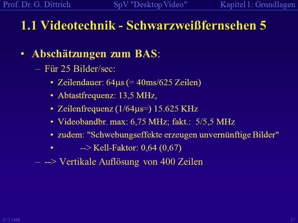1.1 Videotechnik - Schwarzweißfernsehen 5