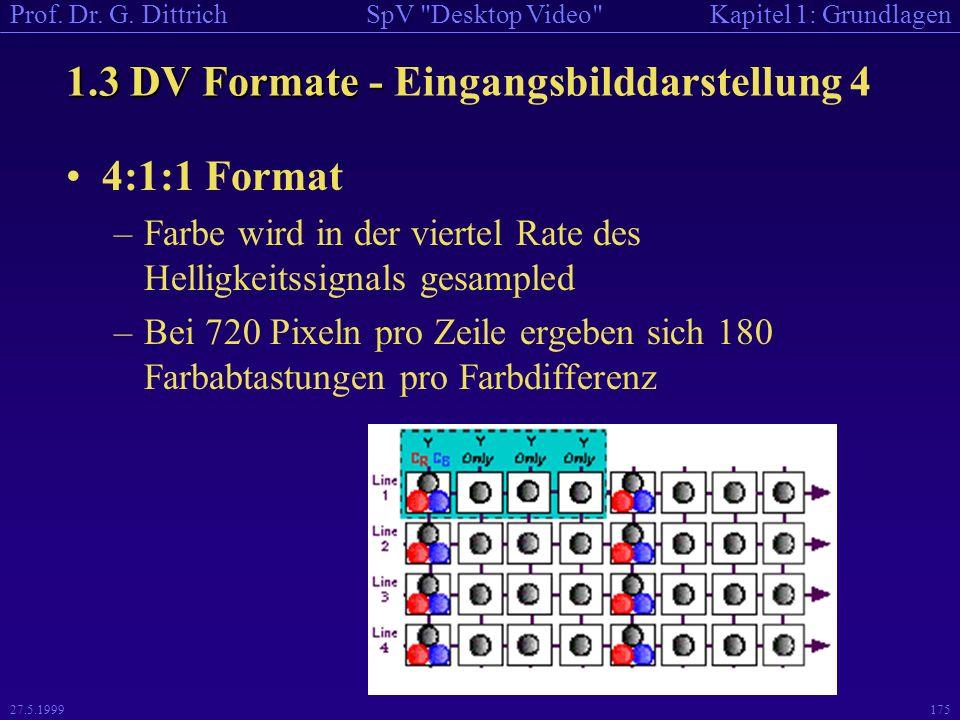 1.3 DV Formate - Eingangsbilddarstellung 4
