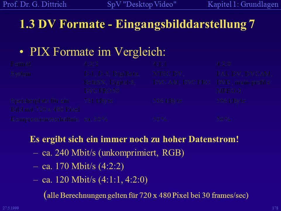 1.3 DV Formate - Eingangsbilddarstellung 7