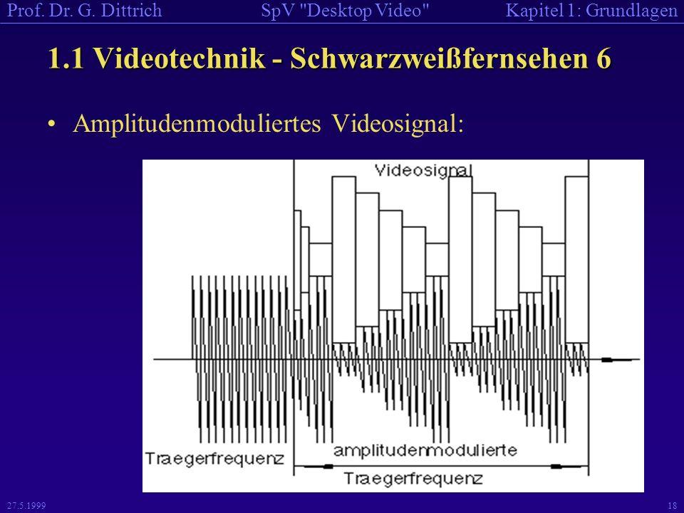 1.1 Videotechnik - Schwarzweißfernsehen 6