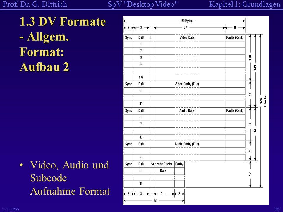 1.3 DV Formate - Allgem. Format: Aufbau 2