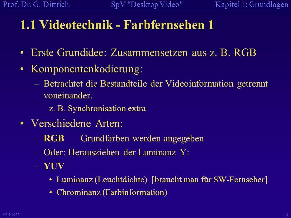 1.1 Videotechnik - Farbfernsehen 1