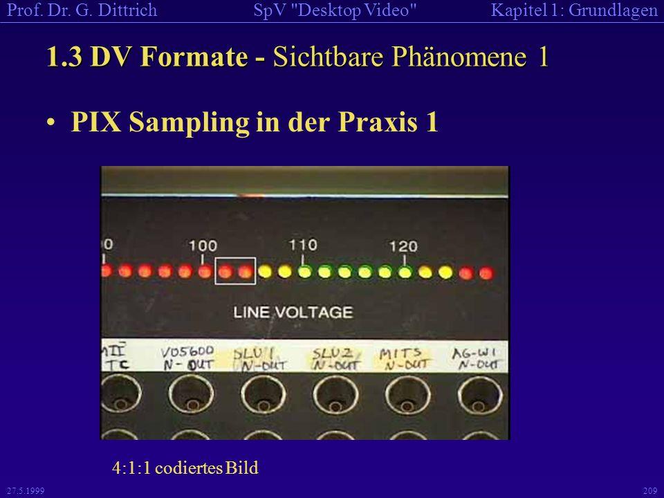 1.3 DV Formate - Sichtbare Phänomene 1