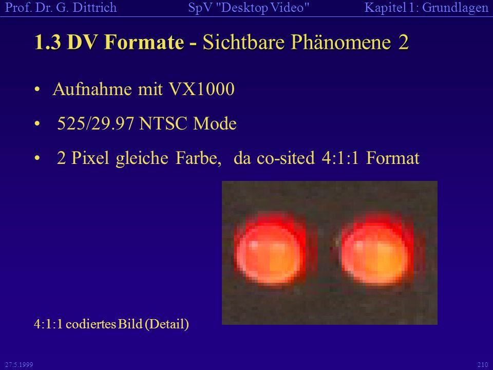 1.3 DV Formate - Sichtbare Phänomene 2