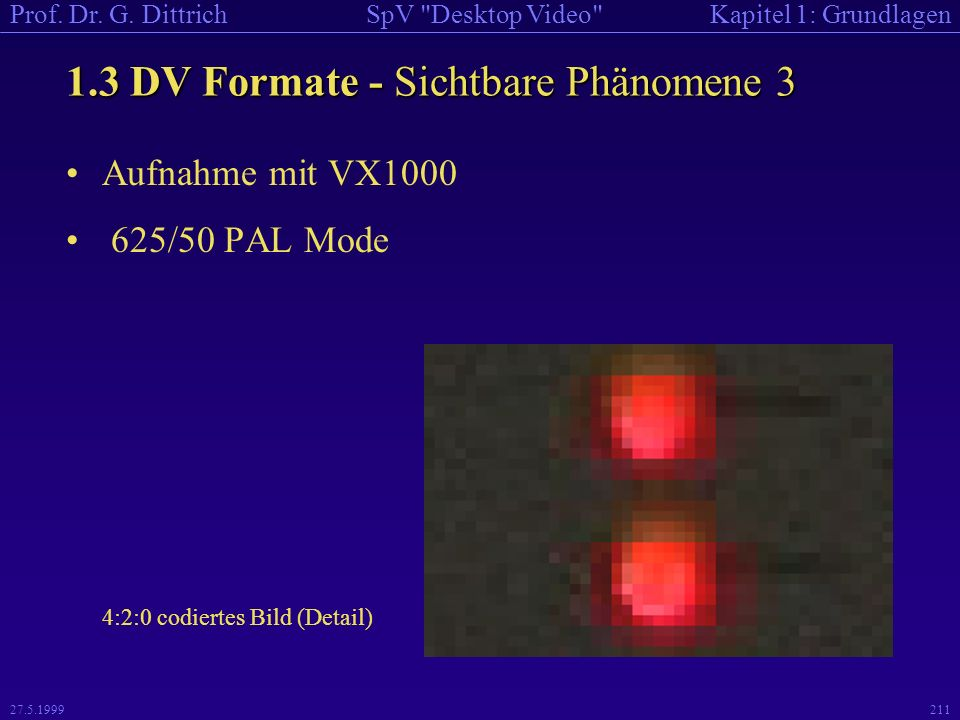 1.3 DV Formate - Sichtbare Phänomene 3