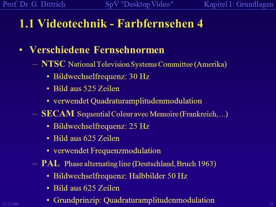 1.1 Videotechnik - Farbfernsehen 4