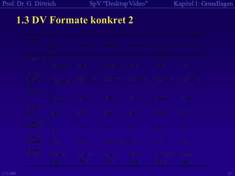 1.3 DV Formate konkret 2 27.5.1999
