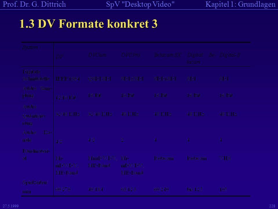 1.3 DV Formate konkret 3 27.5.1999