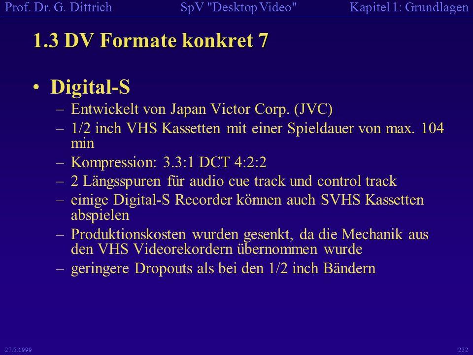 1.3 DV Formate konkret 7 Digital-S