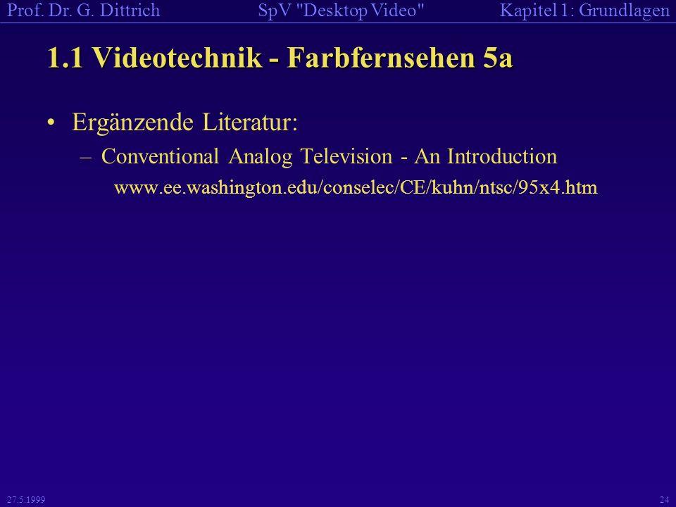 1.1 Videotechnik - Farbfernsehen 5a
