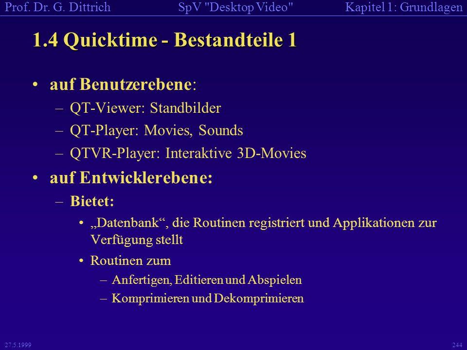 1.4 Quicktime - Bestandteile 1