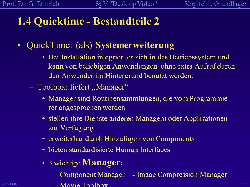 1.4 Quicktime - Bestandteile 2