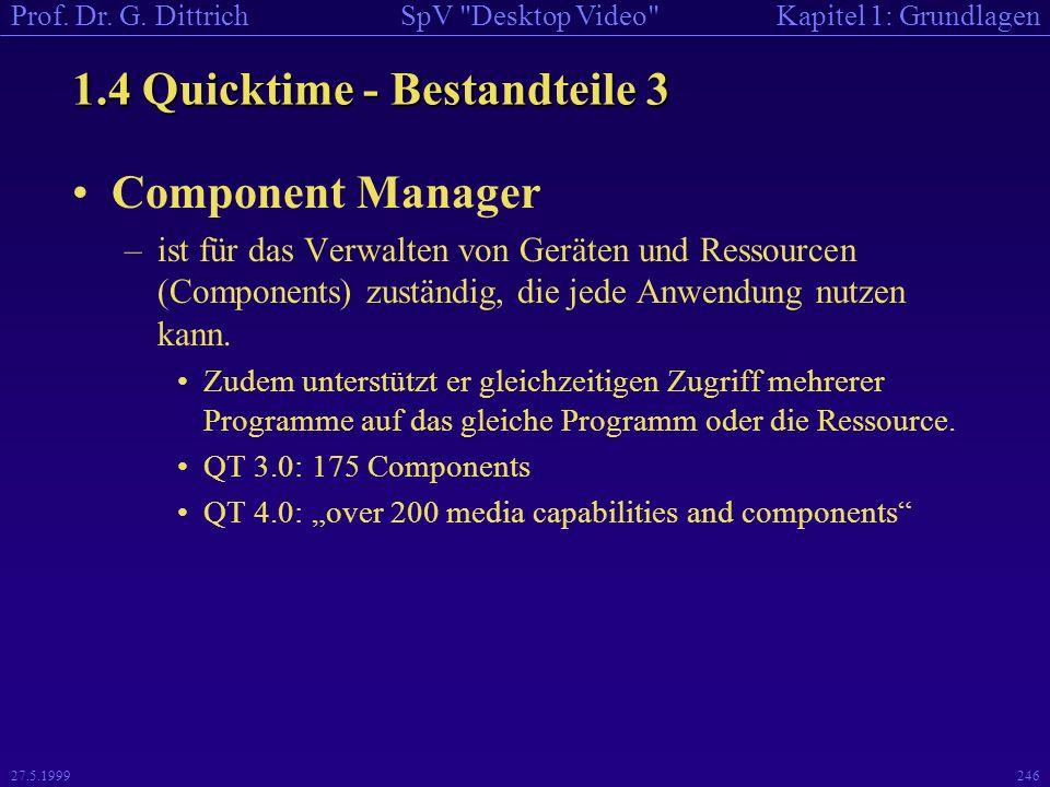 1.4 Quicktime - Bestandteile 3