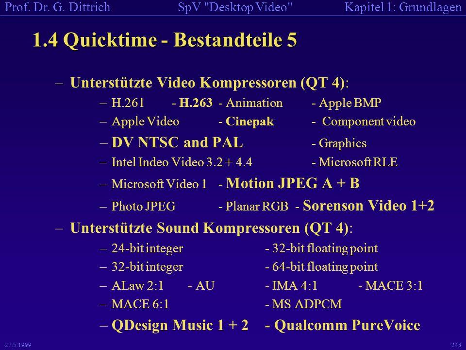 1.4 Quicktime - Bestandteile 5