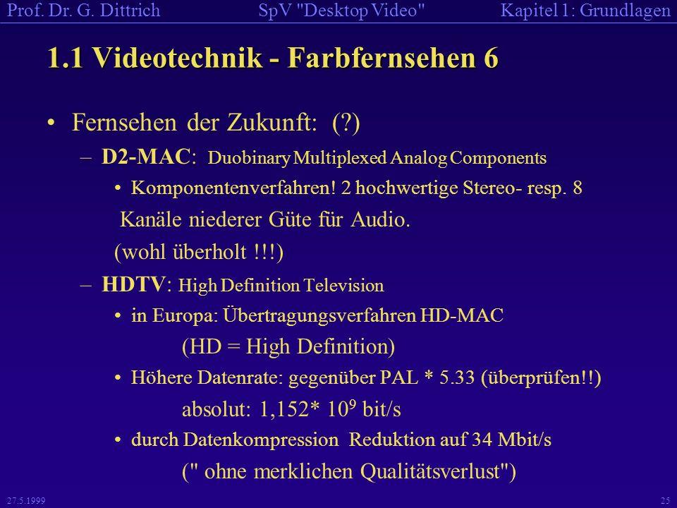 1.1 Videotechnik - Farbfernsehen 6