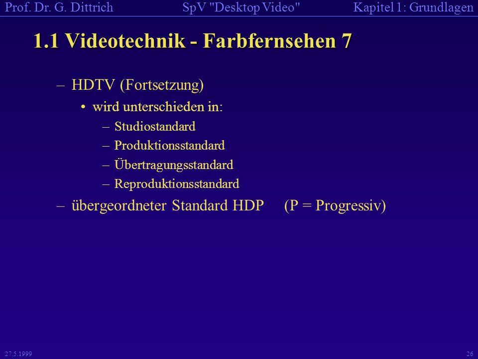 1.1 Videotechnik - Farbfernsehen 7