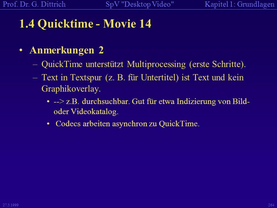 1.4 Quicktime - Movie 14 Anmerkungen 2