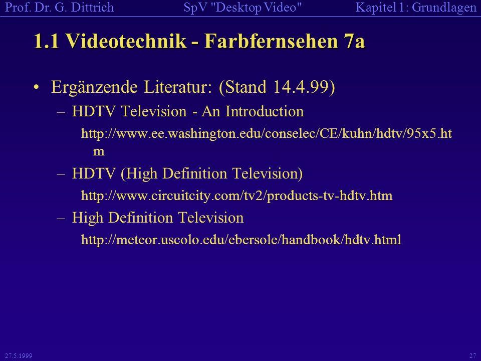 1.1 Videotechnik - Farbfernsehen 7a